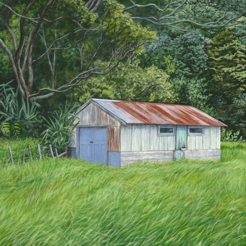 Painting of an old Boat Shed