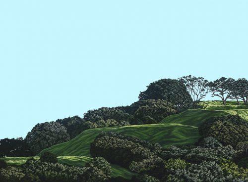 Painting of Mt Eden